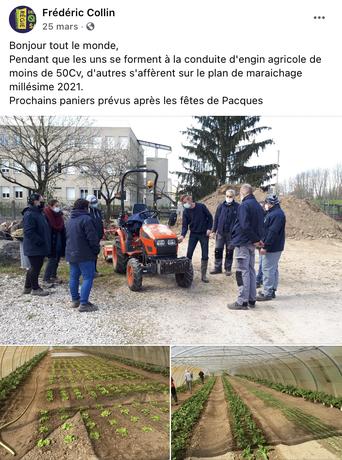 Commentaire de Frédéric Collin de la régie des quartier des Près Saint Jean sur la conduite du Tracteur Agricole