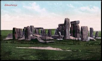 Stonhenge Ansichskarte von 1905