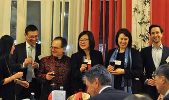 Botschaftsrat Gao Xingle mit den ACBA Vorständen