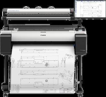WideTEK 36CL MF5 MFP Lösung für Canon TM-300 Drucker