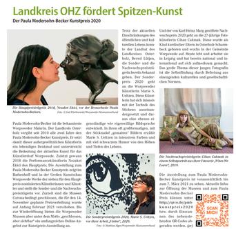 Bericht über paula modersohn becker kunstpreis ohz osterholz scharmbeck