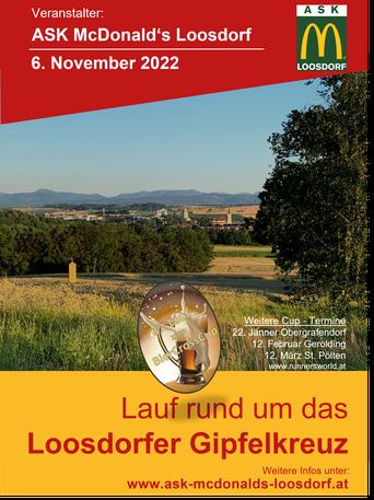 26. Oktober Lauf rund um das Loosdorfer Gipfelkreuz