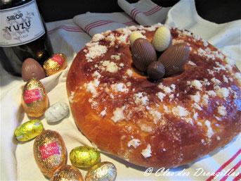 Brioche de Pâques à l'orange et sucre mouillé