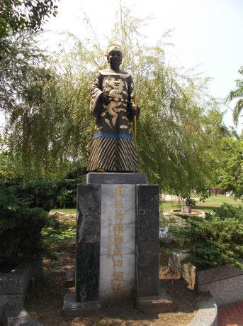 台南市<安平樹屋>近くの鄭成功像