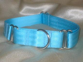 Martingale, Halsband, 2,5cm, Gurtband eisblau