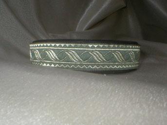 Klickverschluss, Halsband, 2,5cm, Gurtband schwarz, Borte Düne