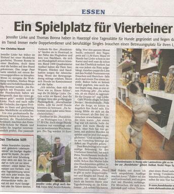WAZ Essen Huta Bericht 12.02.2009