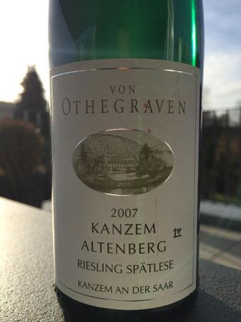 Von Othegraven, Kanzem Altenberg, Spätlese, 2007