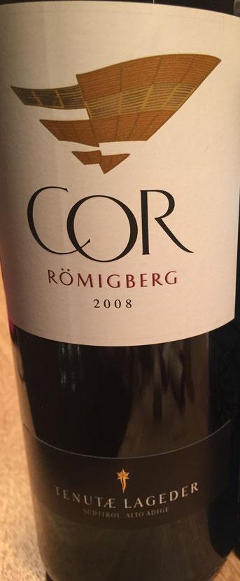 COR Römigberg, Tenuta Lageder, 2008