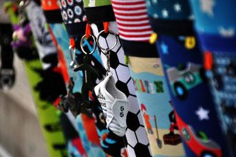 Bild: Fussballanhänger an Stoffschultüte Fussball-Held von AnfängerGlück