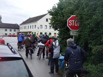 Stop gilt auch für Radfahrer