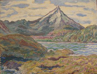 Volcan 2 Amérique de Sud - 1925 45x59 huile sur toile André Aaron Blils