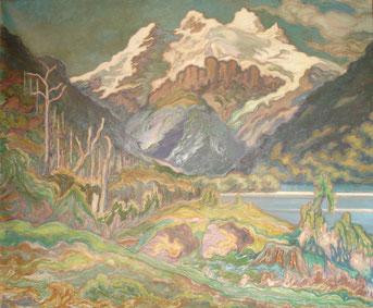 Glacier de la cordillère des Andes 1925 120x146 huile sur toile André Aaron Blils