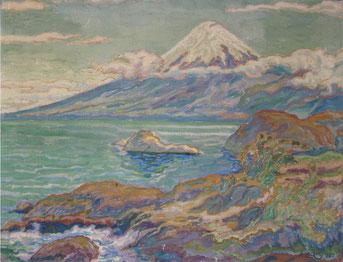 Volcan 1 Amérique de Sud - 1925 45x59  huile sur toile André Aaron Blils
