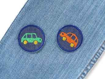 Bügelbilder Auto Oldtimer, mini Bügelflicken für Kinder, Hosenflicken zum aufbügeln