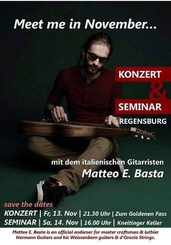 Matteo E. Basta Regensburg Concert Seminar Weissenborn Lap Steel Guitar