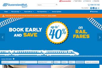 Queensland Rail ウェブサイト