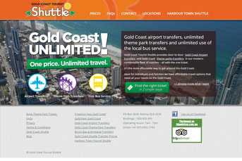 Gold Coast Tourist Shuttle ウェブサイト