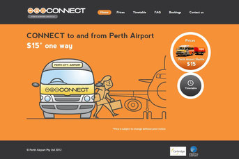Perth Airport Connect ウェブサイト