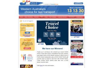 Swan Taxis ウェブサイト