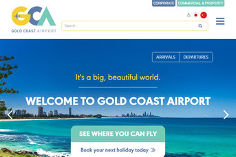 Gold Coast Airport ウェブサイト