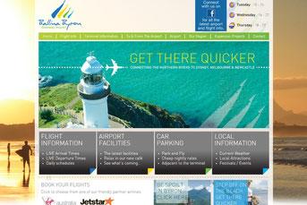 Ballina Byron Airport ウェブサイト