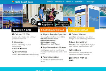 Gold Coast Cabs ウェブサイト