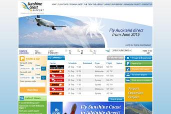Sunshine Coast 空港ウェブサイト