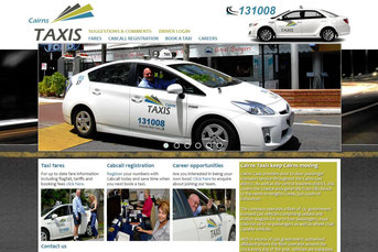 Cairns Taxis ウェブサイト