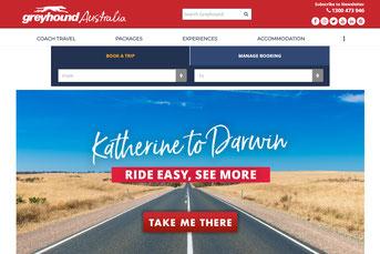Greyhound Australia ウェブサイト