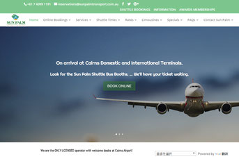 Sun Palm Transport ウェブサイト