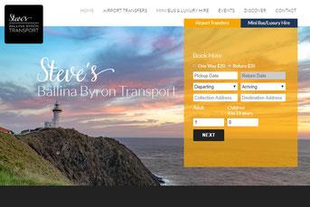Steve's Airport Transfers ウェブサイト