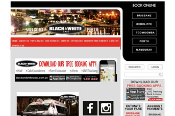 Black & White Cabs ウェブサイト