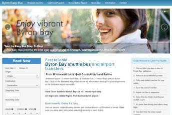 Byron Easy Bus ウェブサイト