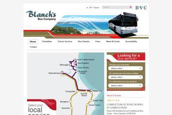 Blanch's Bus Company ウェブサイト