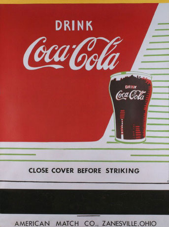"Andy Warhol,""Close cover before striking 1962, Louisiana Museum of Arta, Dinamarca."