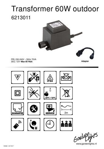 Techmar Garden Lights - LightPro - Transformator 12V 60W Produktblatt WPC Pool Terrasse