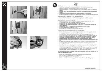 Fernbedienung & Empfänger 166A - Techmar Garden Lights - LightPro Gartenbeleuchtung Anleitung