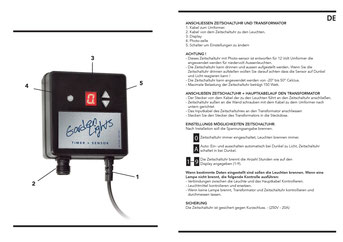 Timer Hell-  Dunkelsensor - Techmar Garden Lights - LightPro 12V Gartenbeleuchtung Anleitung