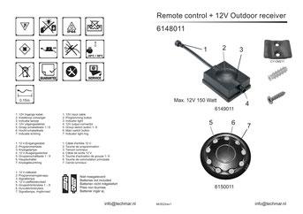 Fernbedienung & Empfänger 166A - Techmar Garden Lights - LightPro Gartenbeleuchtung Bedienungsanleitung