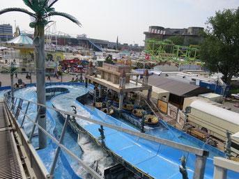 ATLANTIS RAFTING - DIE Jahrmarkts-/Kirmes-Wildwasserbahn: Panorama-Blick aus 10m Höhe