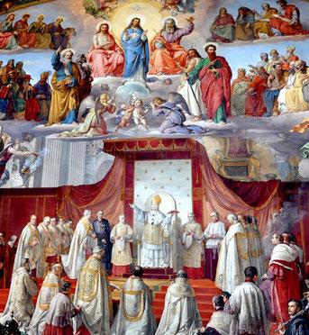 El Beato Pío IX declara el dogma de la Inmaculada Concepción