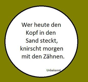 Text im Kreis mit grünem Rand