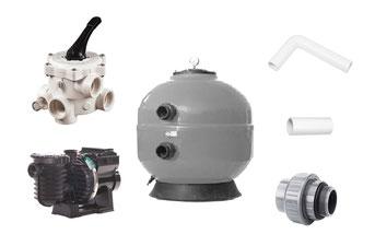 Bausatz Filteranlage Privat Serie D500 Fiberplast mit Filterpumpe Sta-Rite