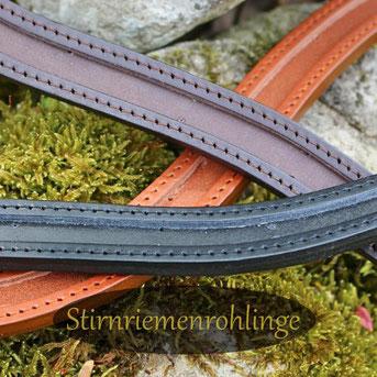 Stirnriemen Rohlinge für Pferd und Pony für Vollblut Warmblut XL