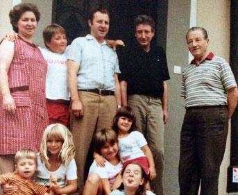 Herta, Peter, Georg jr., Viktor, Georg sen., Albert, Margot, Isabella, Dagmar und Pia