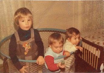 Georg, Pia und Bernhard 1975