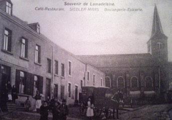 Erstes Haus links: Café Siedler-Maes