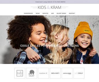 Jimdo Webseite Kids & Kram