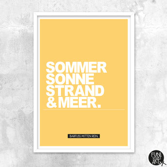 "FUNI SMART ART XL-Poster, Motiv ""Sommertraum."""
